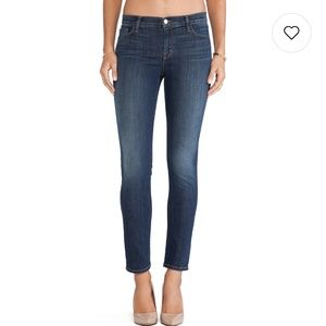 J brand mid rise skinnies in storm